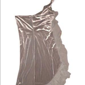 0de3966cefc Gray Asymmetrical Halter top Dress